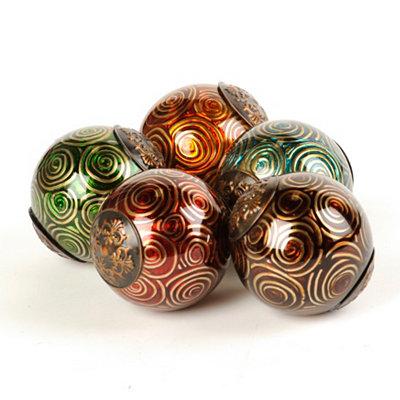 Metallic Swirl Orbs