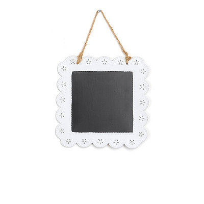 White Chalkboard Plaque
