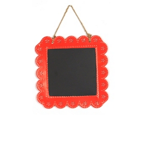 Red Chalkboard Plaque