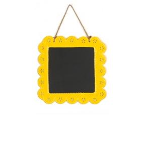 Yellow Chalkboard Plaque