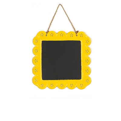 Yellow Chalkboard Plaque