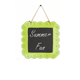 Lime Green Chalkboard Plaque