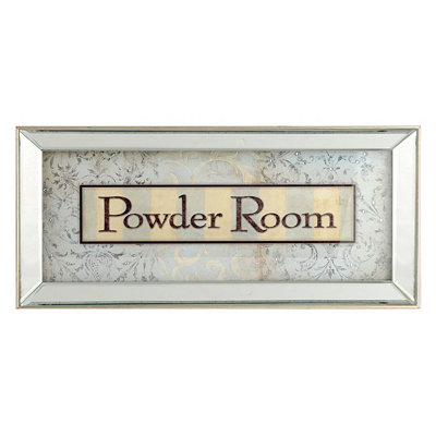 Powder Room Framed Art Print