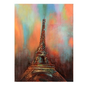 Eiffel Tower at Sunset Canvas Art Print