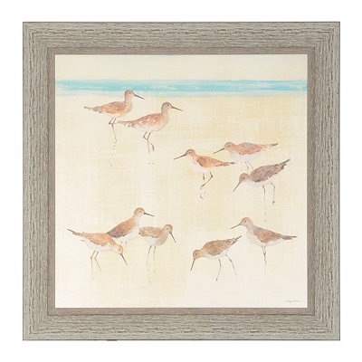 Sand Pipers Framed Art Print
