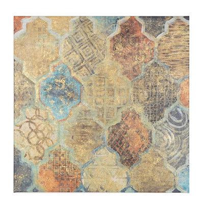 Azure Moroccan Tile Canvas Art Print