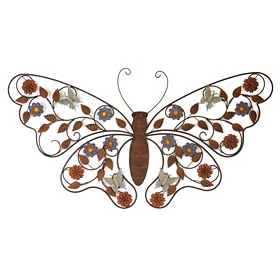 Siena Butterfly Metal Wall Plaque