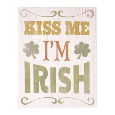 Kiss Me, I'm Irish Canvas Art Print