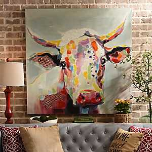 Betsy Cow Canvas Art Print, 50x50