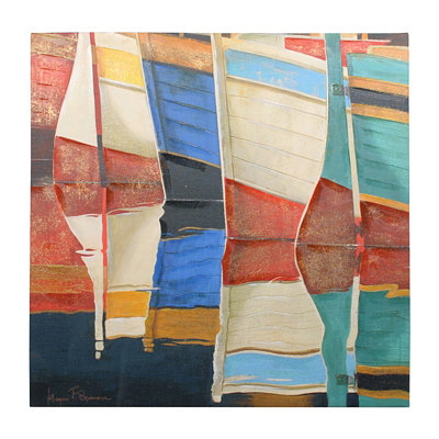 Painted Boats Canvas Art Print