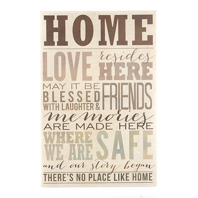 No Place Like Home Canvas Plaque