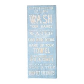 Bathroom Rules Canvas Print
