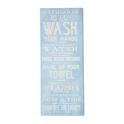 Bathroom Rules Canvas Print