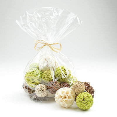 Lime and Cream Decorative Orb Set