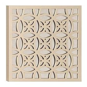 Mirrored Lattice Plaque