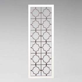 White Geometric Wood & Metal Panel