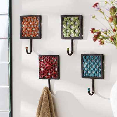 Cast Iron Geometric Wall Hooks