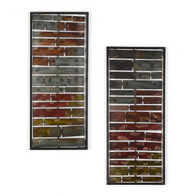 Layered Ombre Panel Wall Plaques