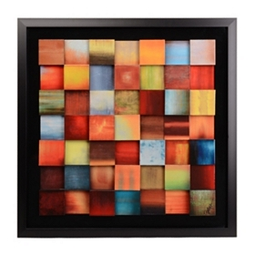Sunrise Blocks Framed Art Print