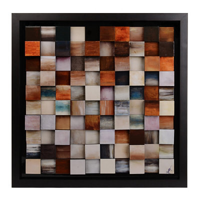 Abstract Color Blocks Framed Art Print