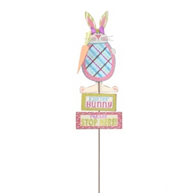 Easter Bunny Stops Here Yard Stake