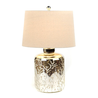 Mercury Glass Coral Table Lamp