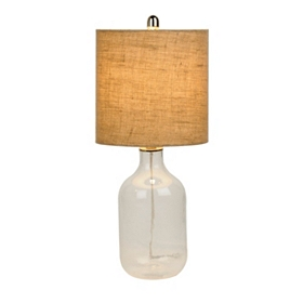 Clear Glass Jug Table Lamp