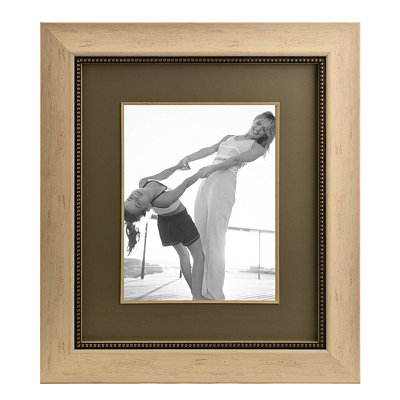 Cream and Taupe Lineage Collection Portrait Frame
