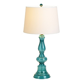 Santorini Blue Glass Table Lamp