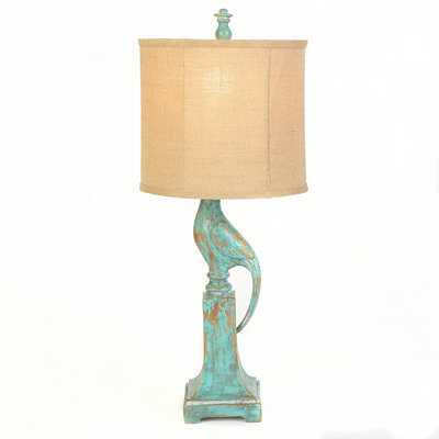 Rustic Bird Table Lamp