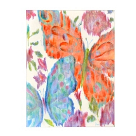 Vivid Butterflies I Canvas Art Print