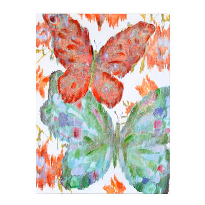 Vivid Butterflies II Canvas Art Print