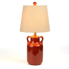 Red Jug Ceramic Table Lamp