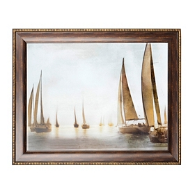 Golden Sails Framed Art Print