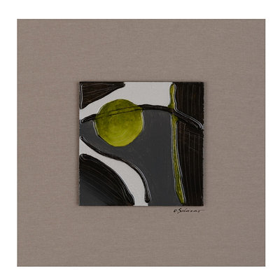 Motion II Glass Tile Wood Plaque