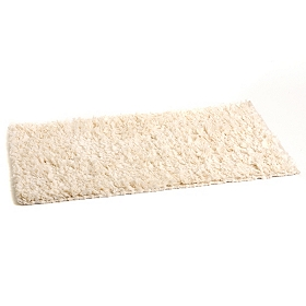 Cream Shag Bath Mat
