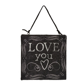 Love You & Love You More Wall Plaque