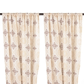 Brown & Tan Finley Curtain Panel Set, 84 in.