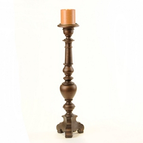 Bronze Pillar Candle Holder, 36 in.