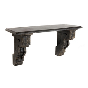 Weathered Black Wall Shelf