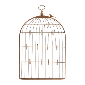 Bird Cage Holder with Clips