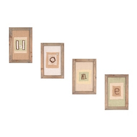Ribbon & Lace Home Wall Plaque, Set of 4