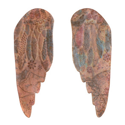 Painted Wing Wall Plaque, Set of 2