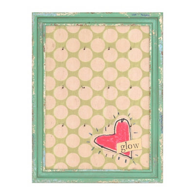 Heart's Glow with Hooks Wall Plaque