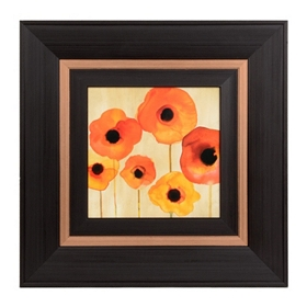 Orange Watercolor Poppies II Framed Art Print