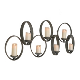 Metal Rings 7-Pillar Candle Holder