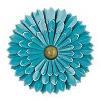 Blue Metal Flower Wall Plaque