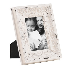 Distressed Ivory Harlow Picture Frame, 4x6