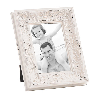 Distressed Ivory Harlow Picture Frame, 5x7