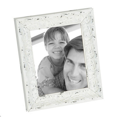 Distressed Ivory Harlow Picture Frame, 8x10